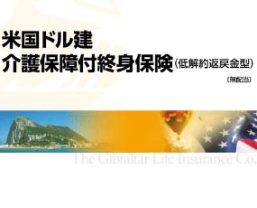 米国ドル建介護保障付終身保険